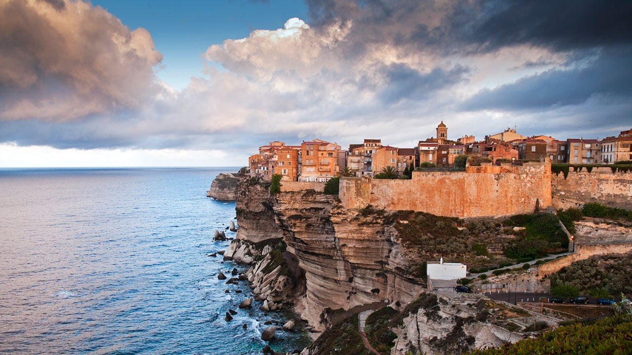 The coastal city of Bonifacio