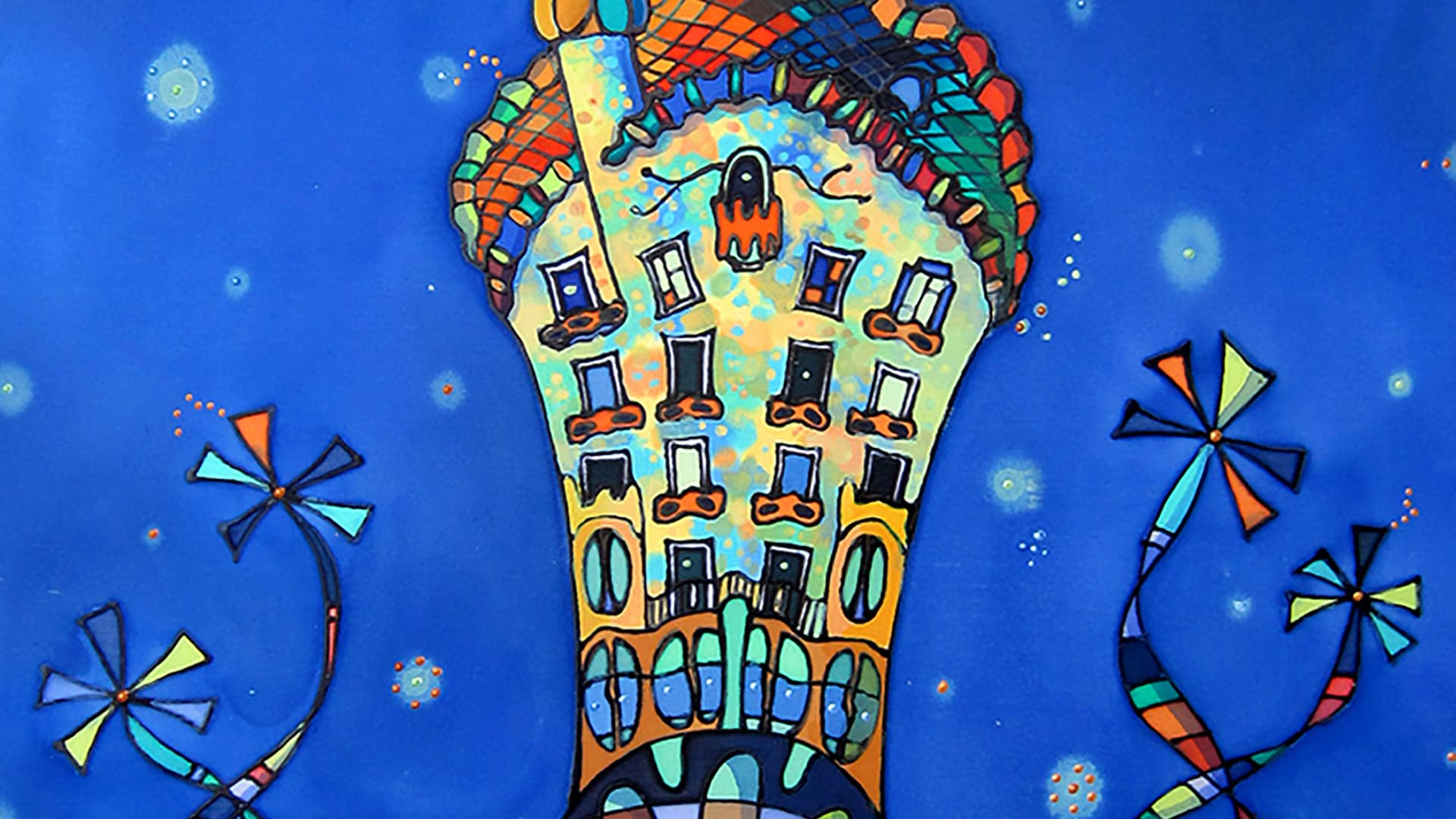 he Casa Batlló artwork by Anna Font, Barcelona