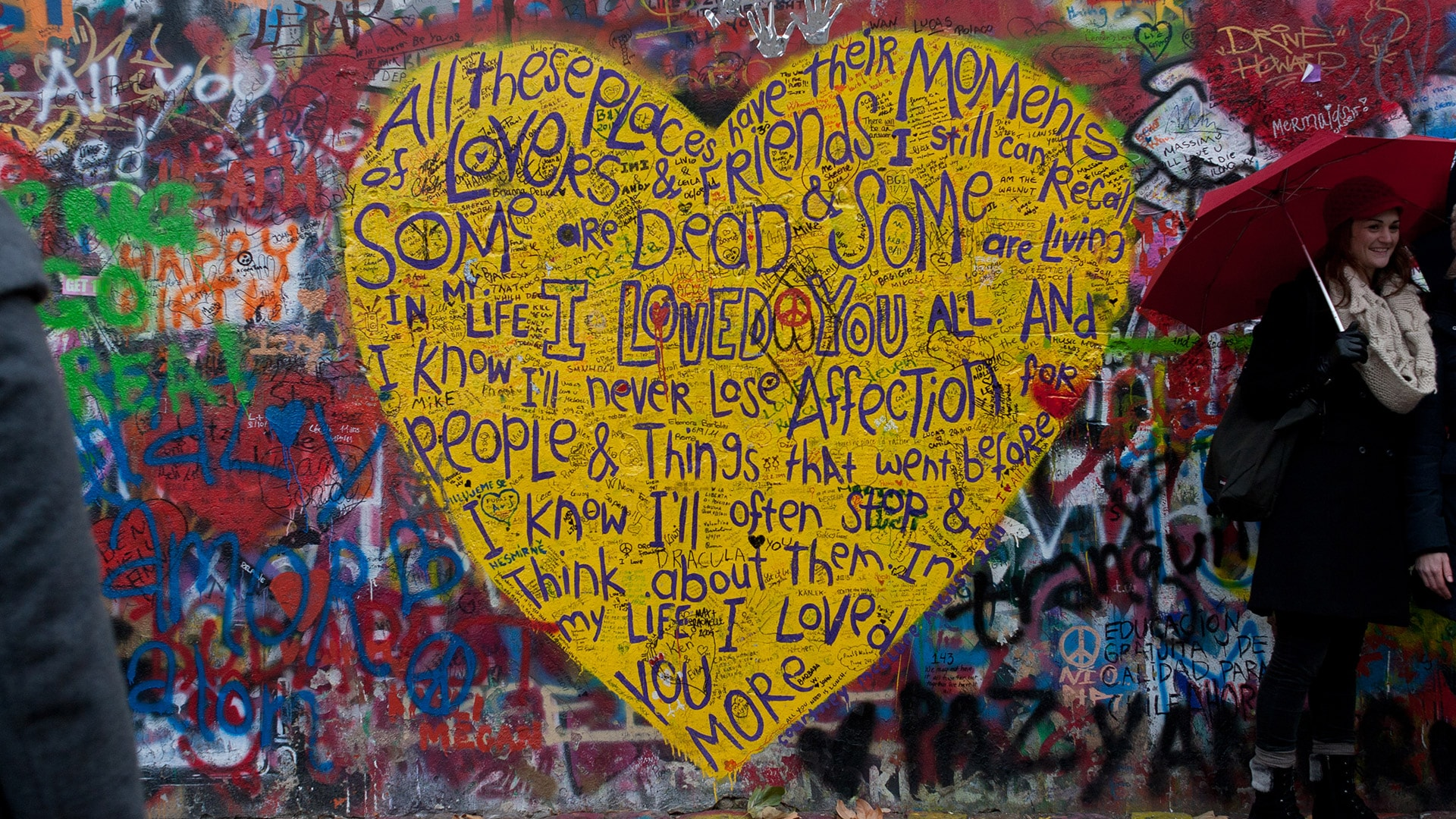 The Lennon Wall, Prague, Czech Republic